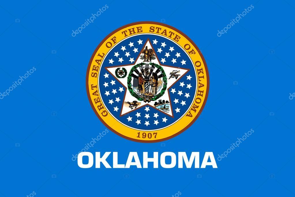 Vlag Van Oklahoma Usa Stockfoto Diquebk 127549658