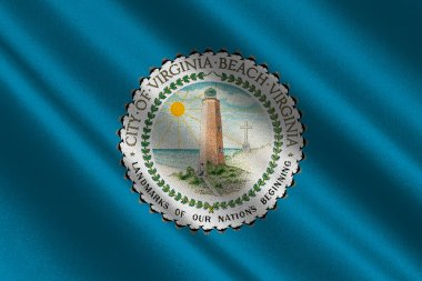 Flag of Virginia Beach in Virginia, USA