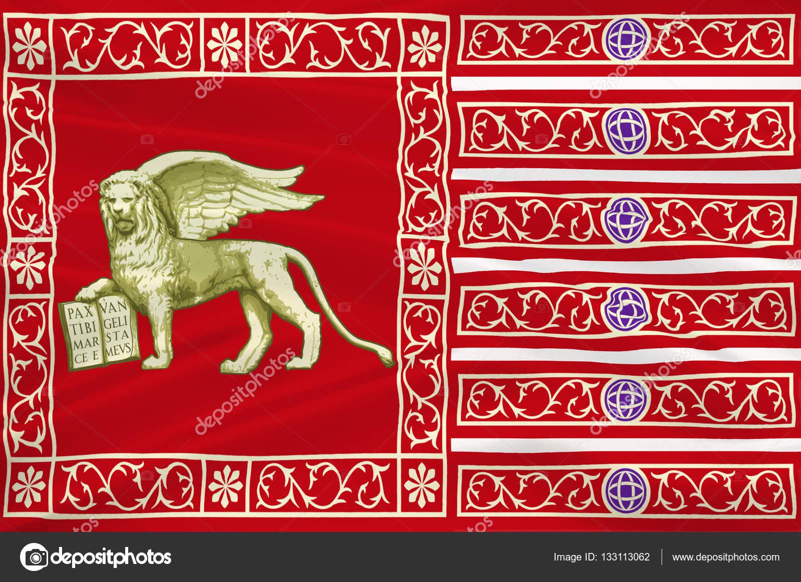 Flag of Venice, Italy — Stock Photo © dique.bk.ru #133113062