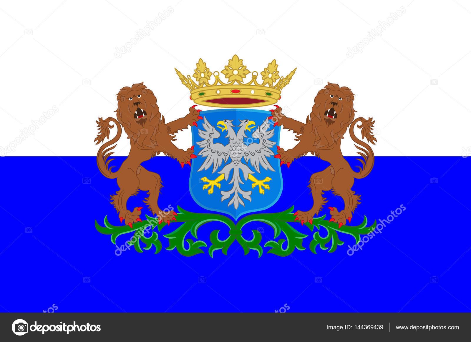 ... flag of Dutch province Gelderland flying in the wind