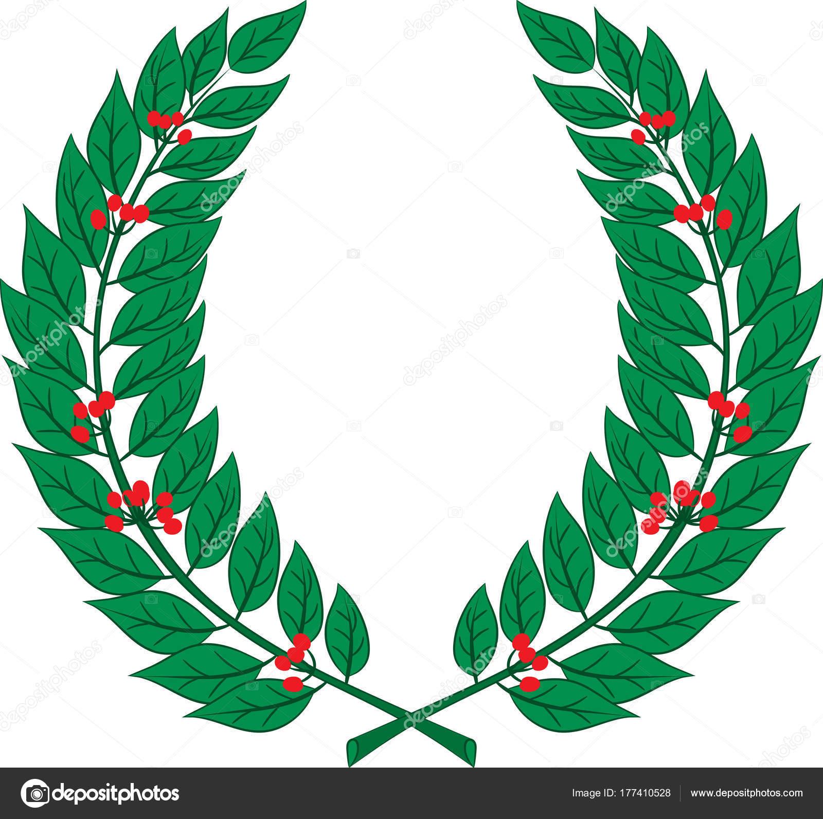 Corona Di Alloro Simbolo Di Vittoria E Successo Foto Stock