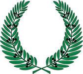 Olive wreath - symbol of victory and achievement