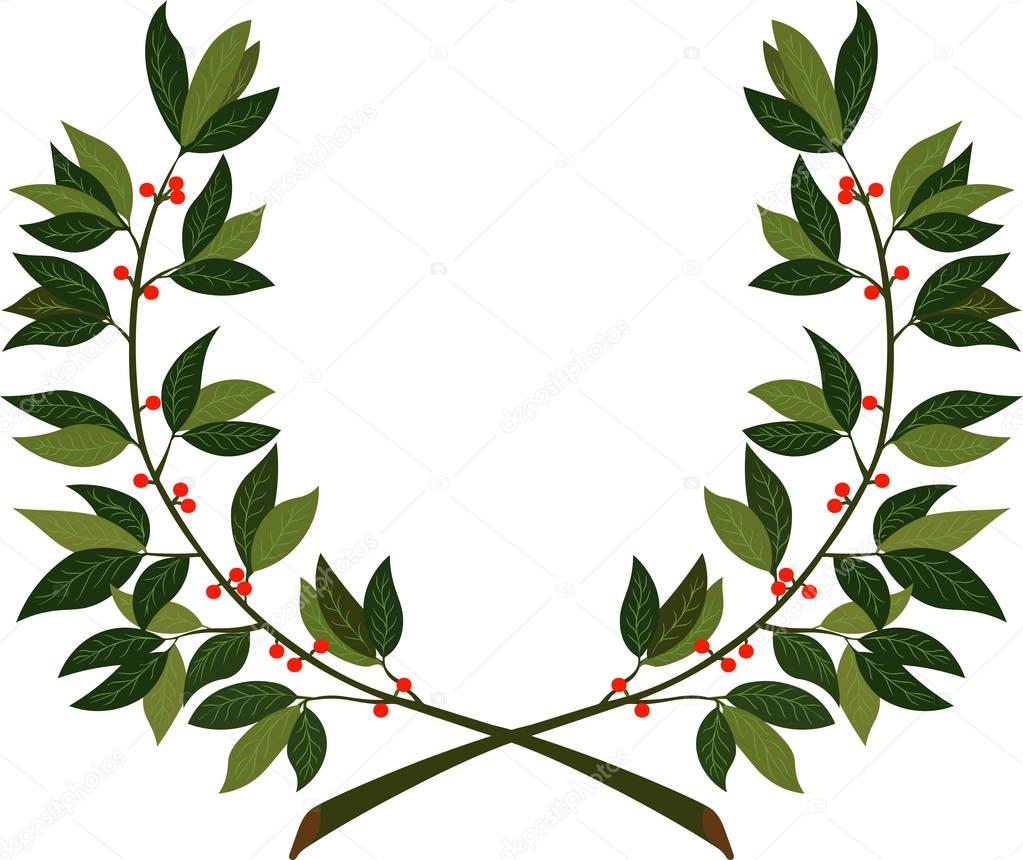 Laurel wreath - symbol of victory and achievement