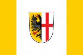 Vlajka Memmingenu ve Švábii v Bavorsku, Německo