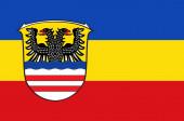 Flagge des Wetteraukreises in Hessen.