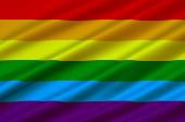 Fotografie Rainbow Gay and LGBT Flag