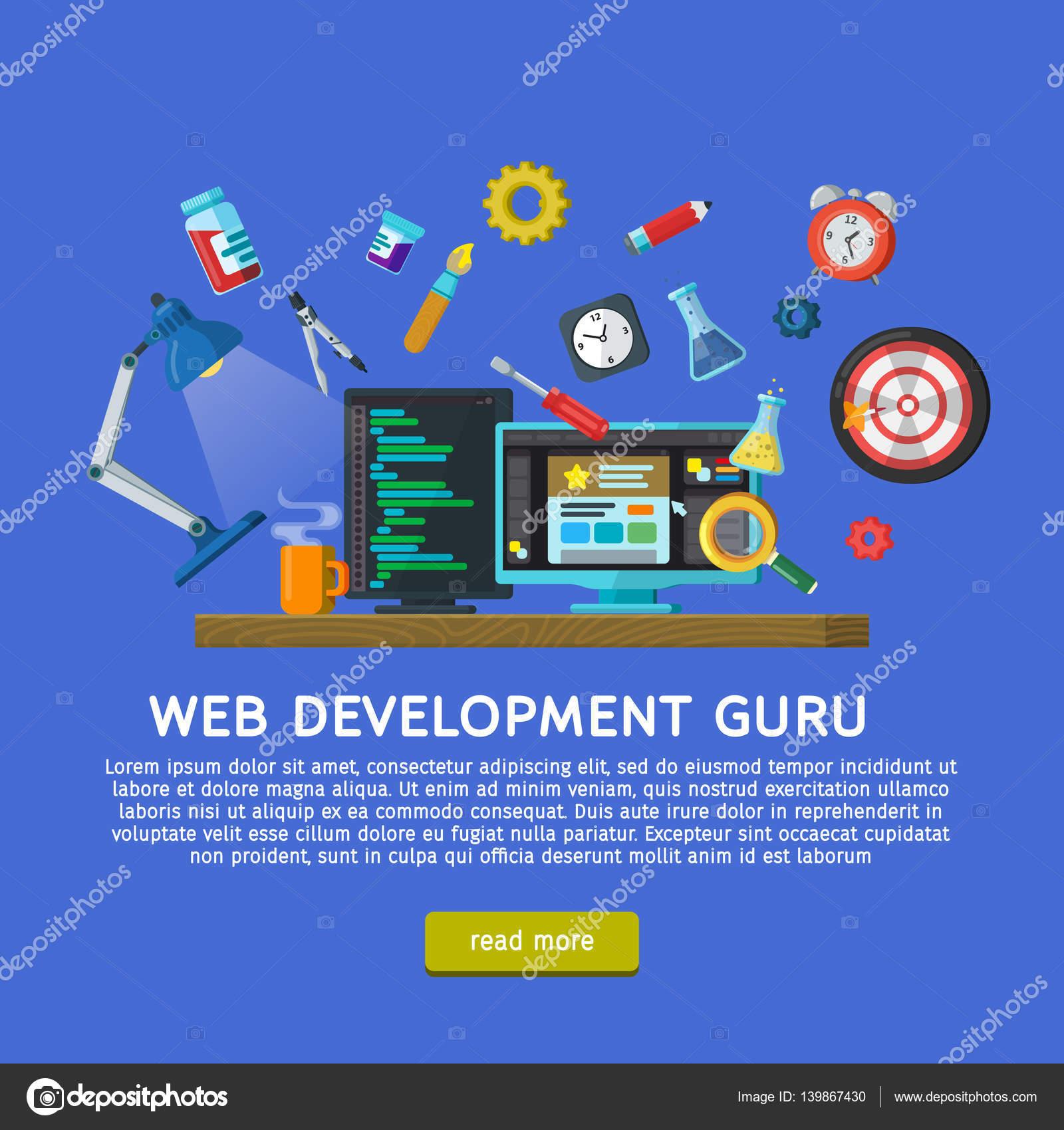 Conceito de design para banner de site em estilo simples ...