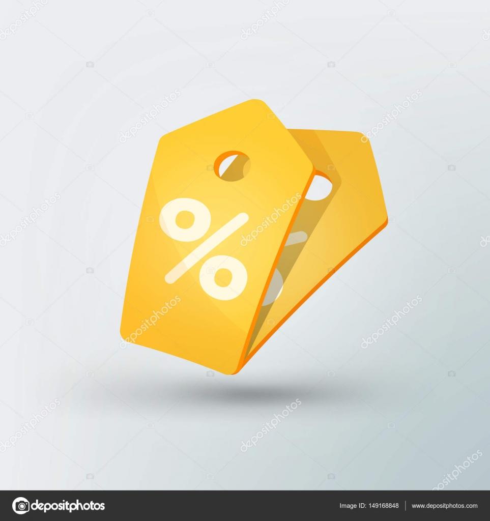 Icono de etiqueta venta de estilo moderno. Precio amarillo con signo ...