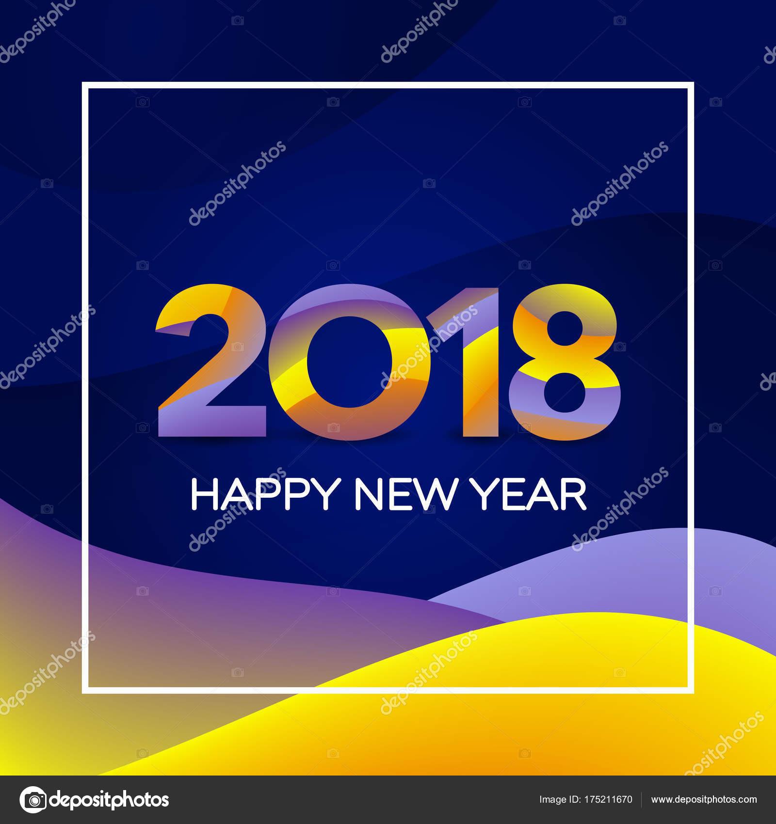 Silvester Urlaub Kartenvorlage. Happy New Year 2018 Textgestaltung ...