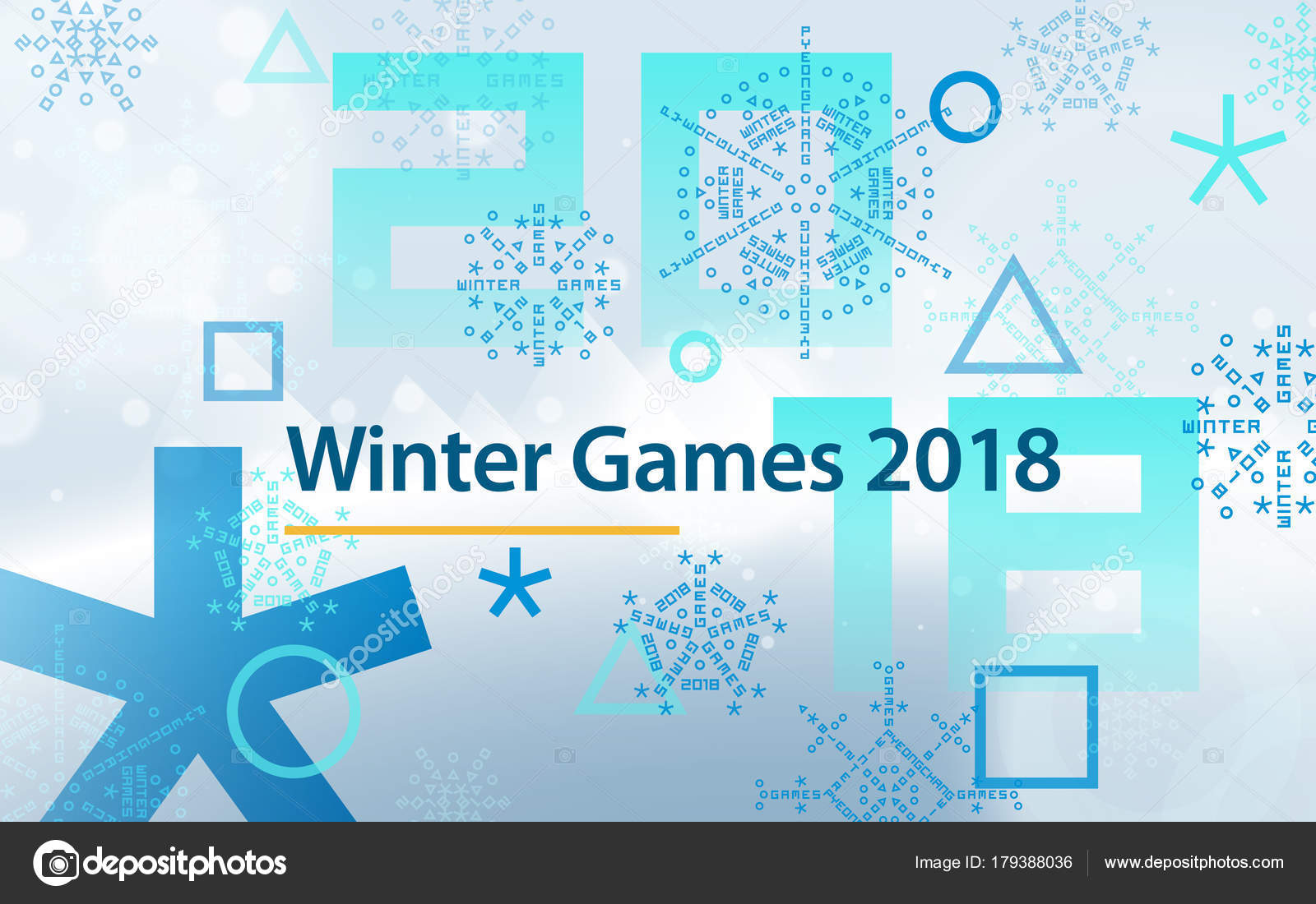 Winter Sports Games In Republic Of Korea 2018 Light Blue Abstract