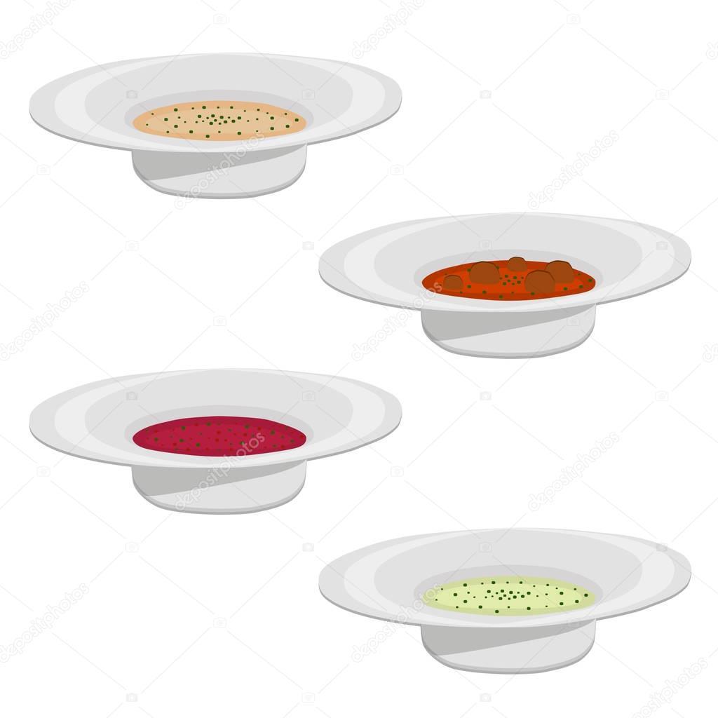 Vector illustration of logo for the ceramic bowl