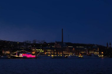Night view of Stockholm