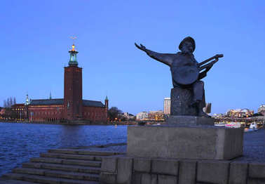Stockholm - Statue of Evert Taube