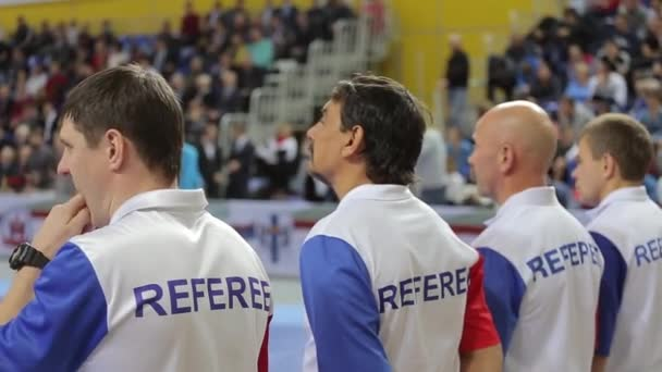 Four referees prepare for competitions