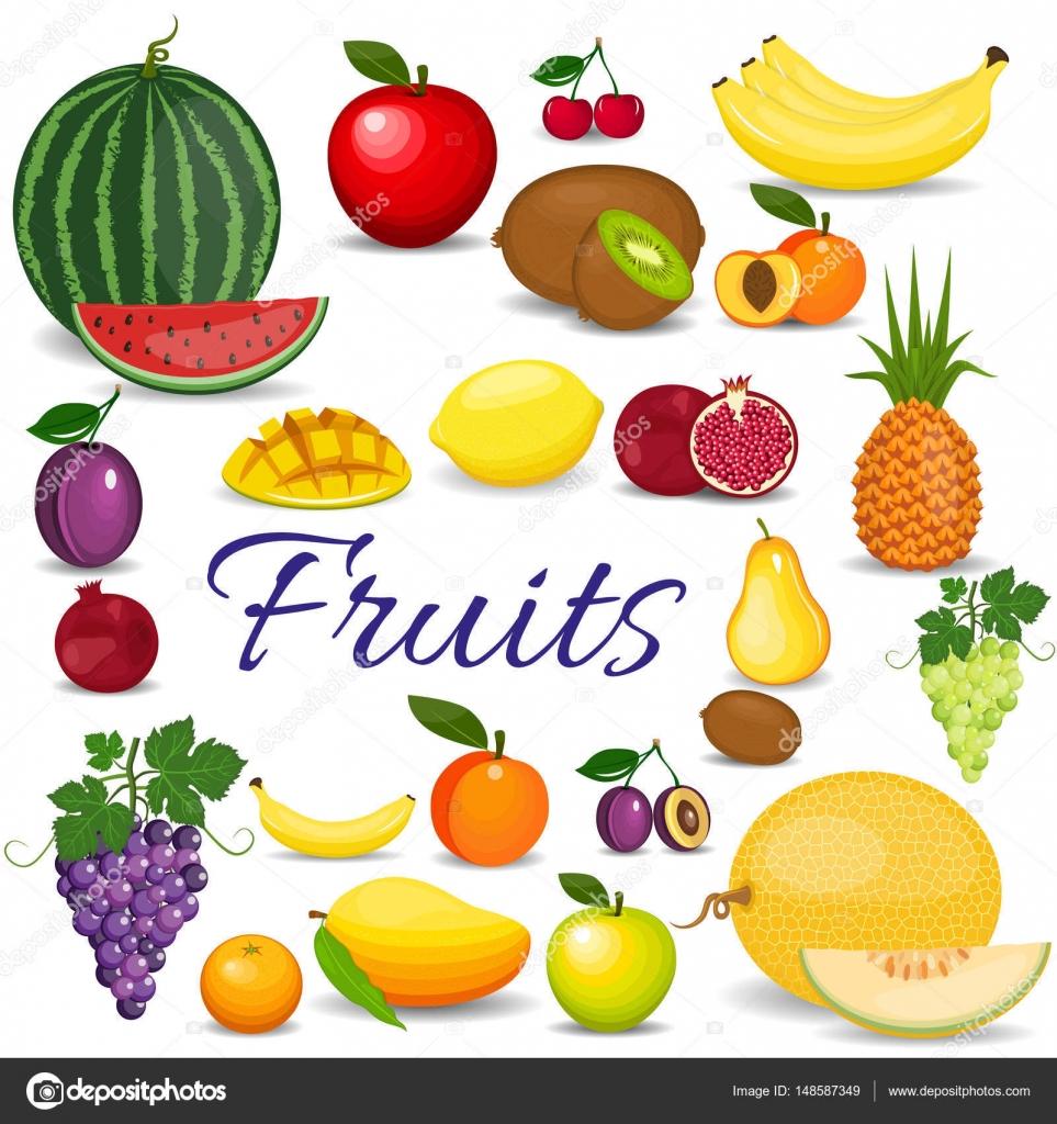 Imágenes Frutas Animadas Coloridas Juego De Fruta De Dibujos