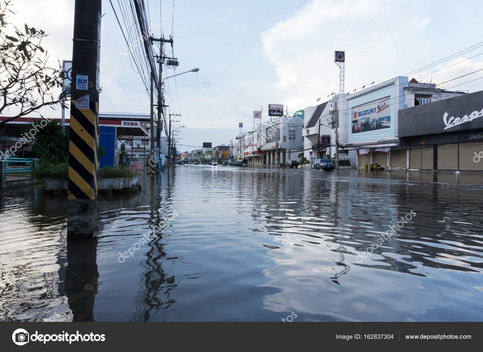 Sakon Nakhon Thailand August 2 2017 Streets Water