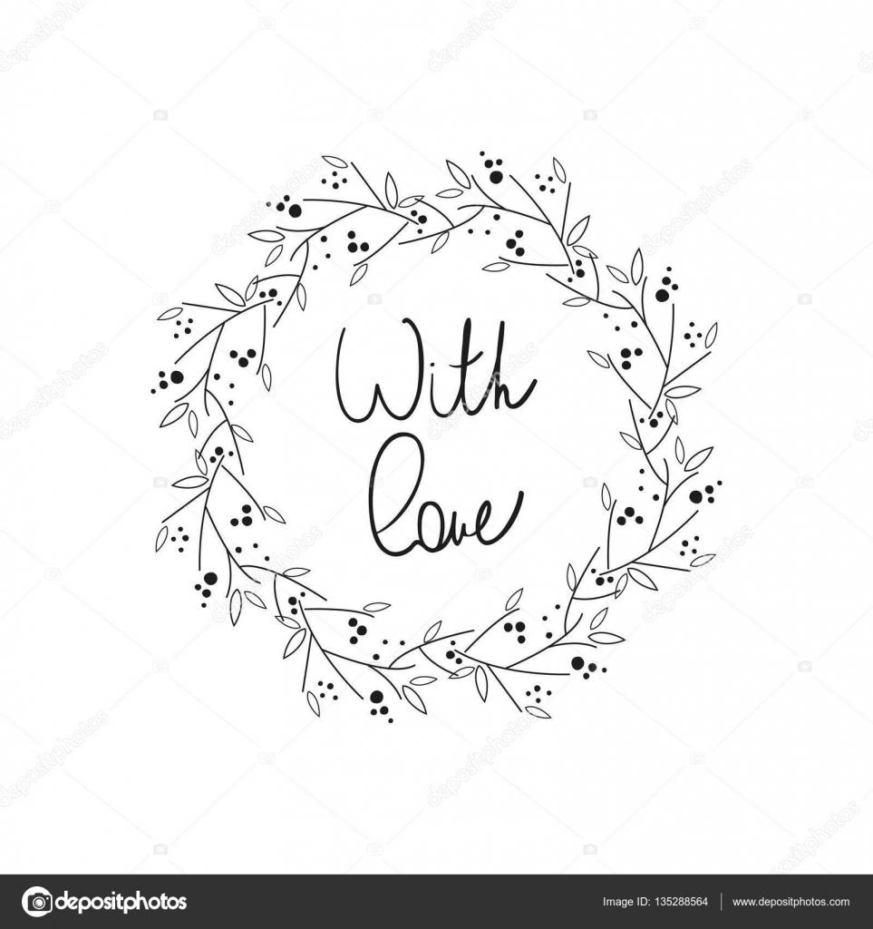 手書き文字と花のフレーム — ストックベクター © oldmillionka.gmail