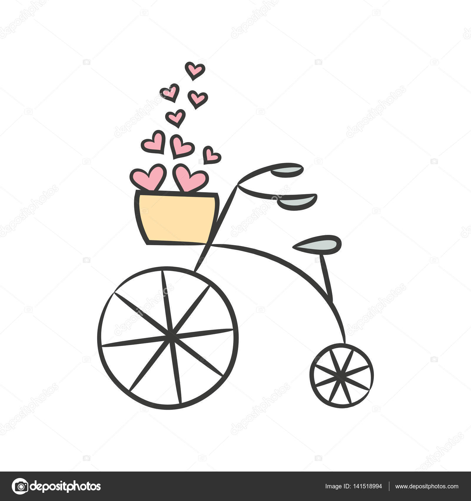 Dibujo Bicicleta Vintage