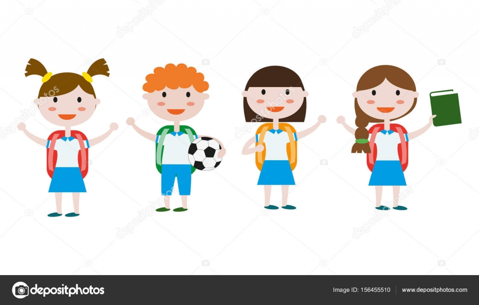 Children In School Uniform Stock Vector C Oldmillionka Gmail