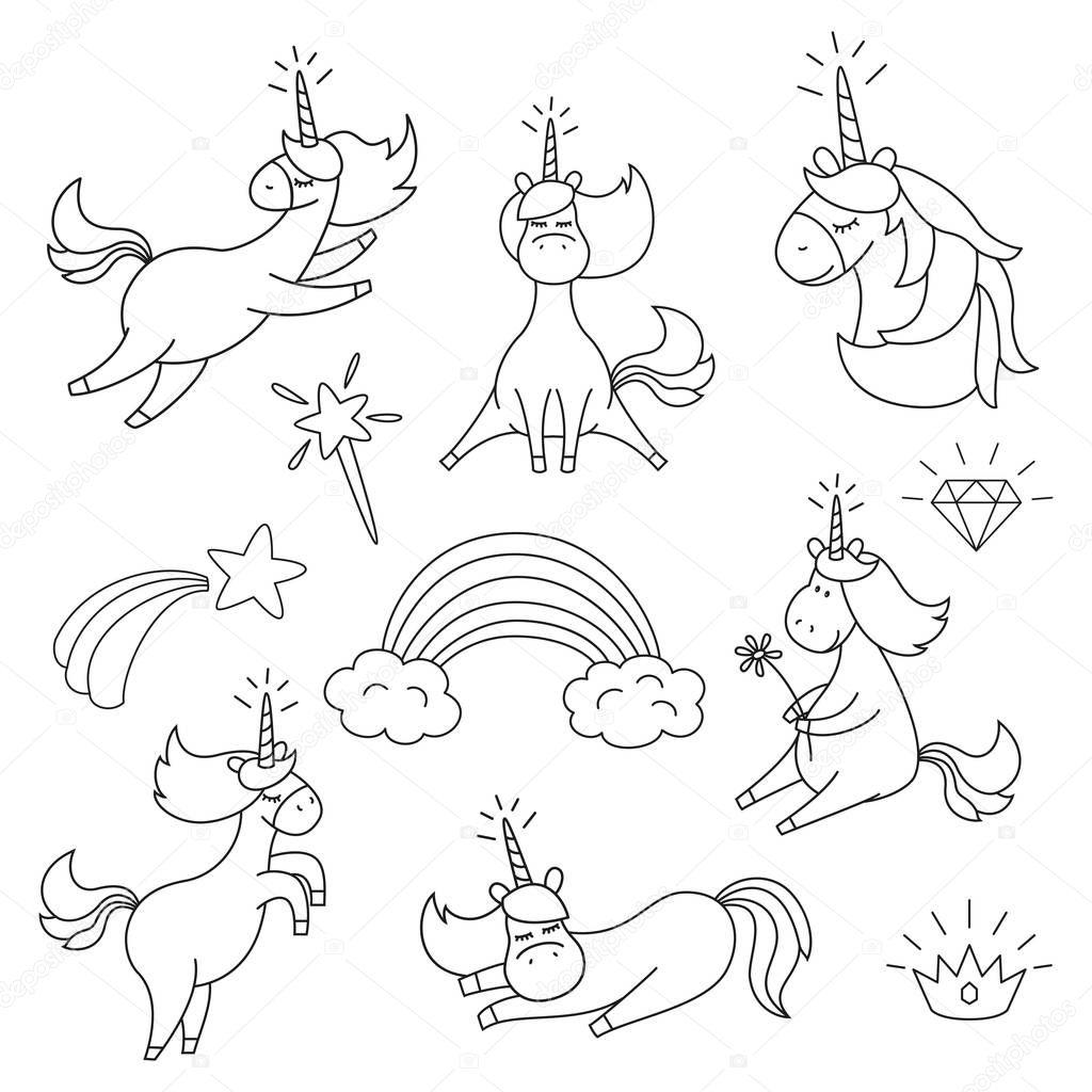 Fotos: unicornios para imprimir sin color | Con lindos ...