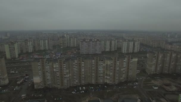 Immagini Case Grigie : Riprese aeree di modello di case grigie sovietico case identiche