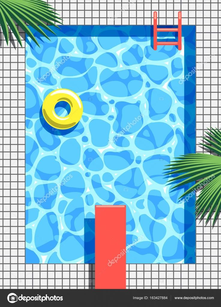 Pool-Party-Einladung-Konzept. Sommer-Vektor-illustration ...