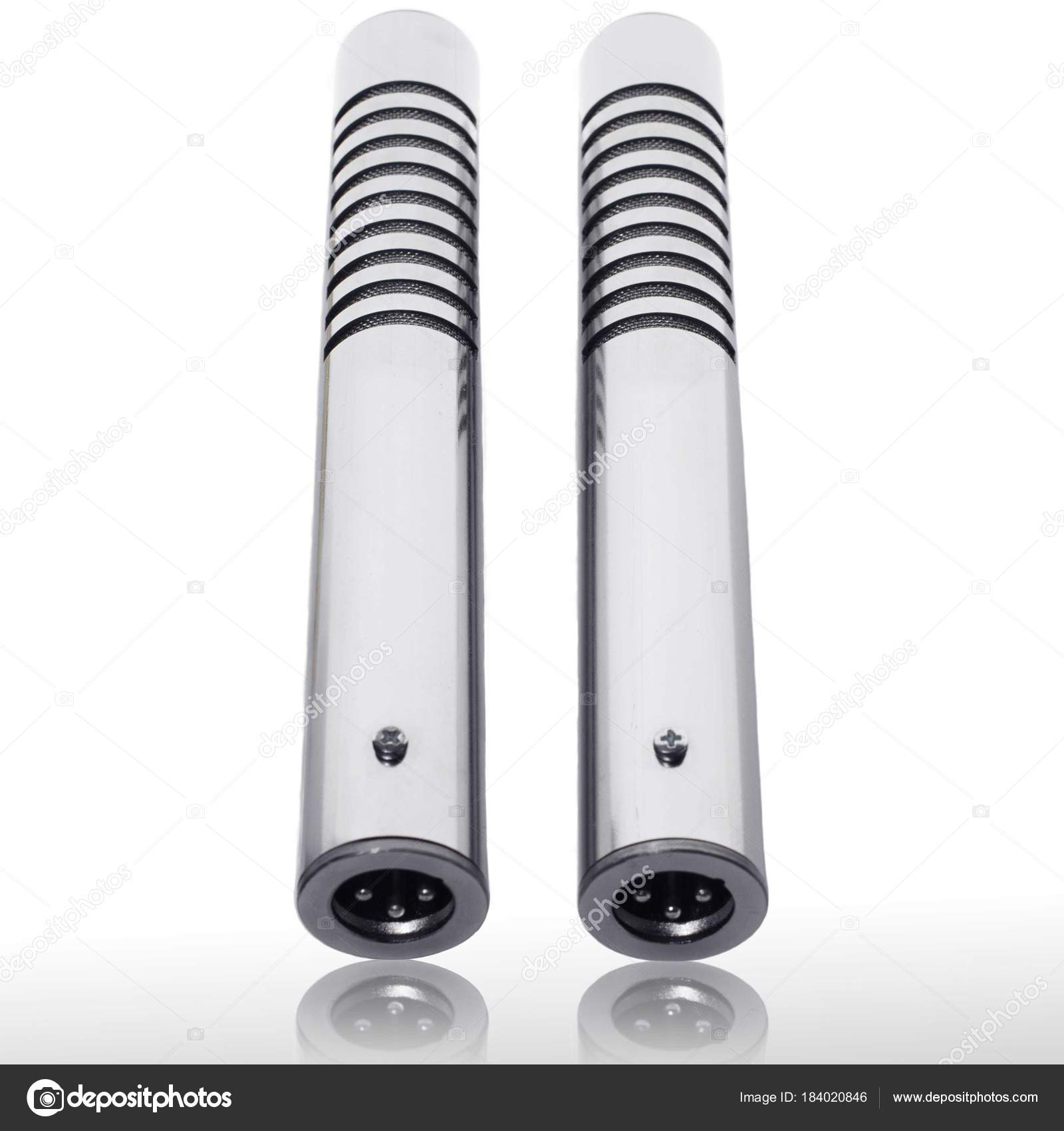 Ribbon Microphone Stereo Pair Silver Stock Photo C Serg Eril 184020846