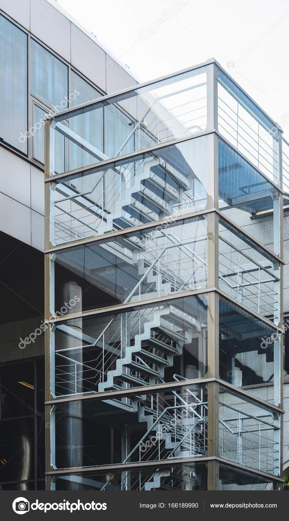 Metal Fire Escape Stair U2014 Stock Photo