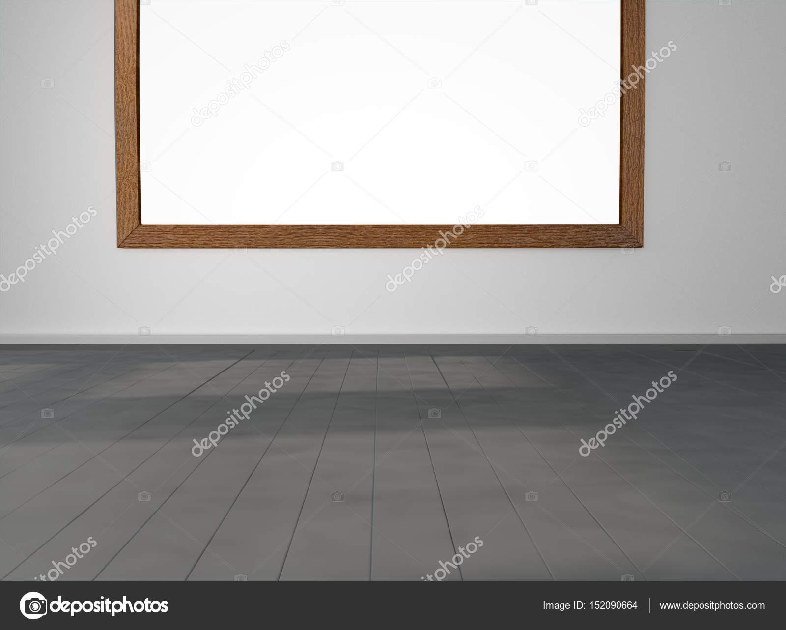 Zimmer mit leeren Bilderrahmen an Wand — Stockfoto © AnatomyInsider ...