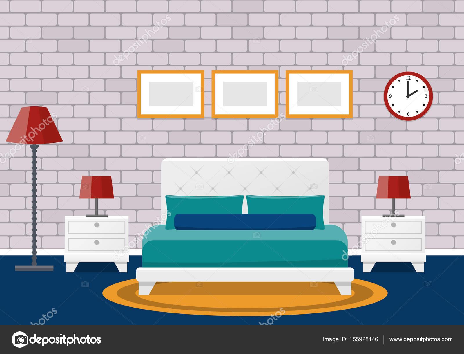 Interior de dormitorio plano dise o de la habitaci n del for Dormitorio animado