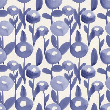 pattern with violet flowers