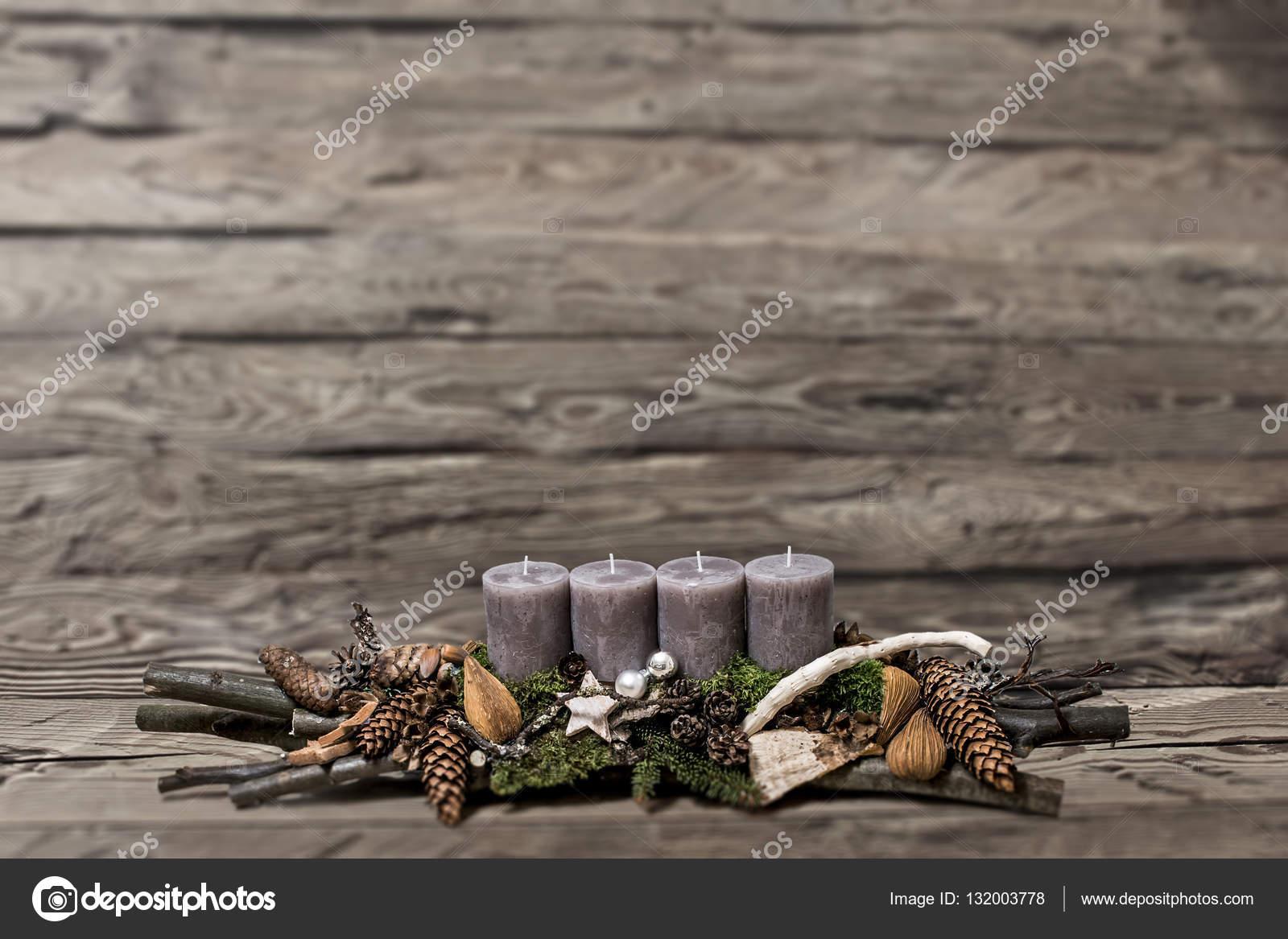 Frohe Weihnachten Dekoration Advent graue Kerze unscharfer ...