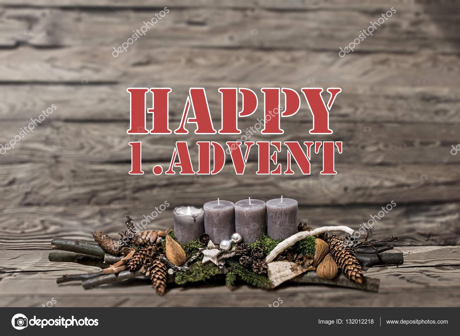 Buon Natale 1a.Buon Natale Decorazione Avvento Grigia Candela Burning