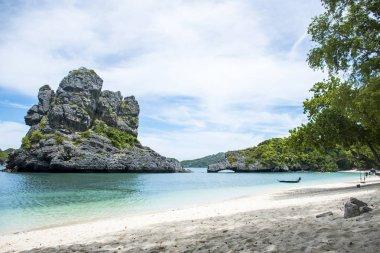 Thailand Beautiful paradise Beach green blue Ang Thong National Marine Park