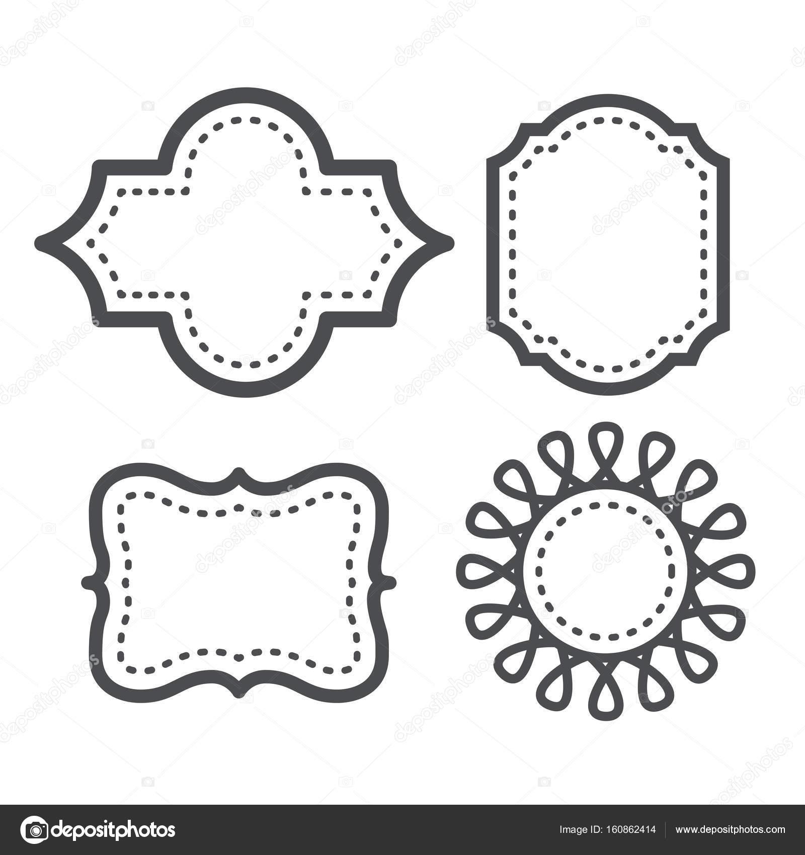 Ogee marcos para tarjetas de felicitación o invitaciones de boda ...
