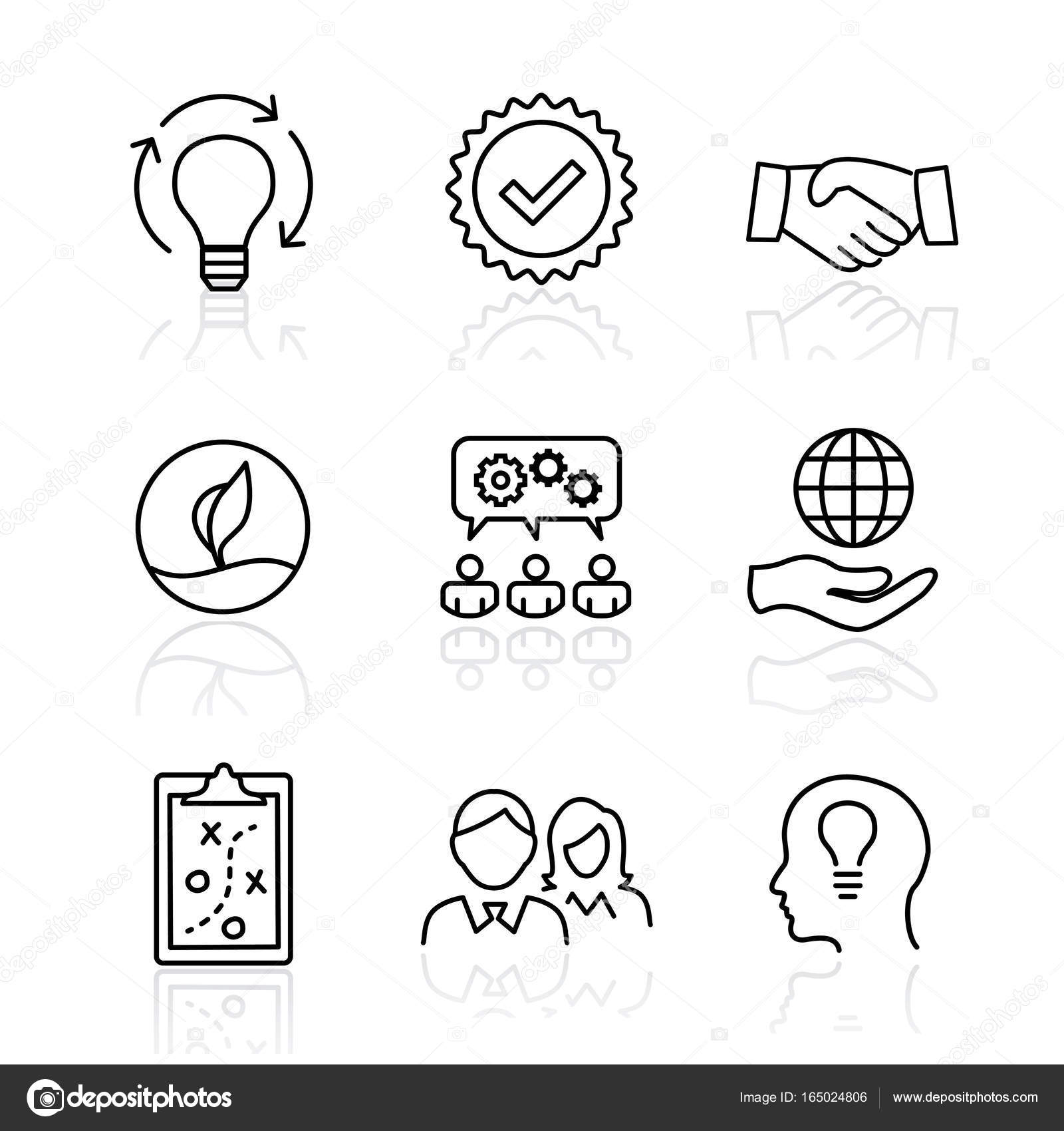Core values mission integrity value icon set with vision hon core values mission integrity value icon set with vision honesty passion and collaboration as the goal focus vector by bearsky23yahoo biocorpaavc Image collections