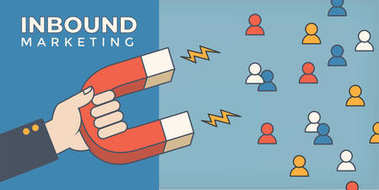 Magnet pulling people for inbound lead generation for digital ma