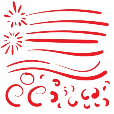 Hand Drawn Red squiggle swoosh text font tail for baseball tshir