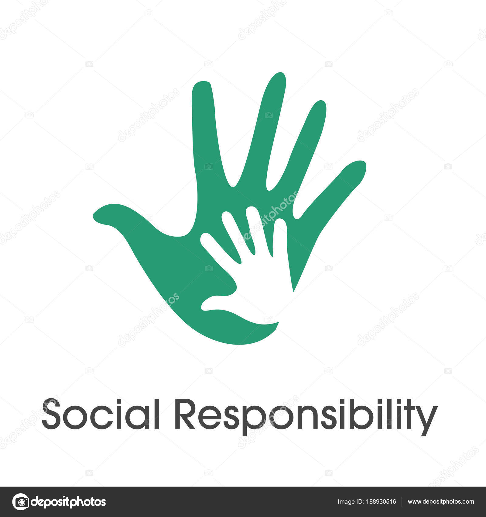 Social Responsibility Solid Icon Set W Honesty Integrity Col