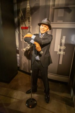 NEW YORK CITY, USA  JULE 13, 2013: Frank Sinatra wax figure at Madame Tussauds wax museum in Times Square in New York.