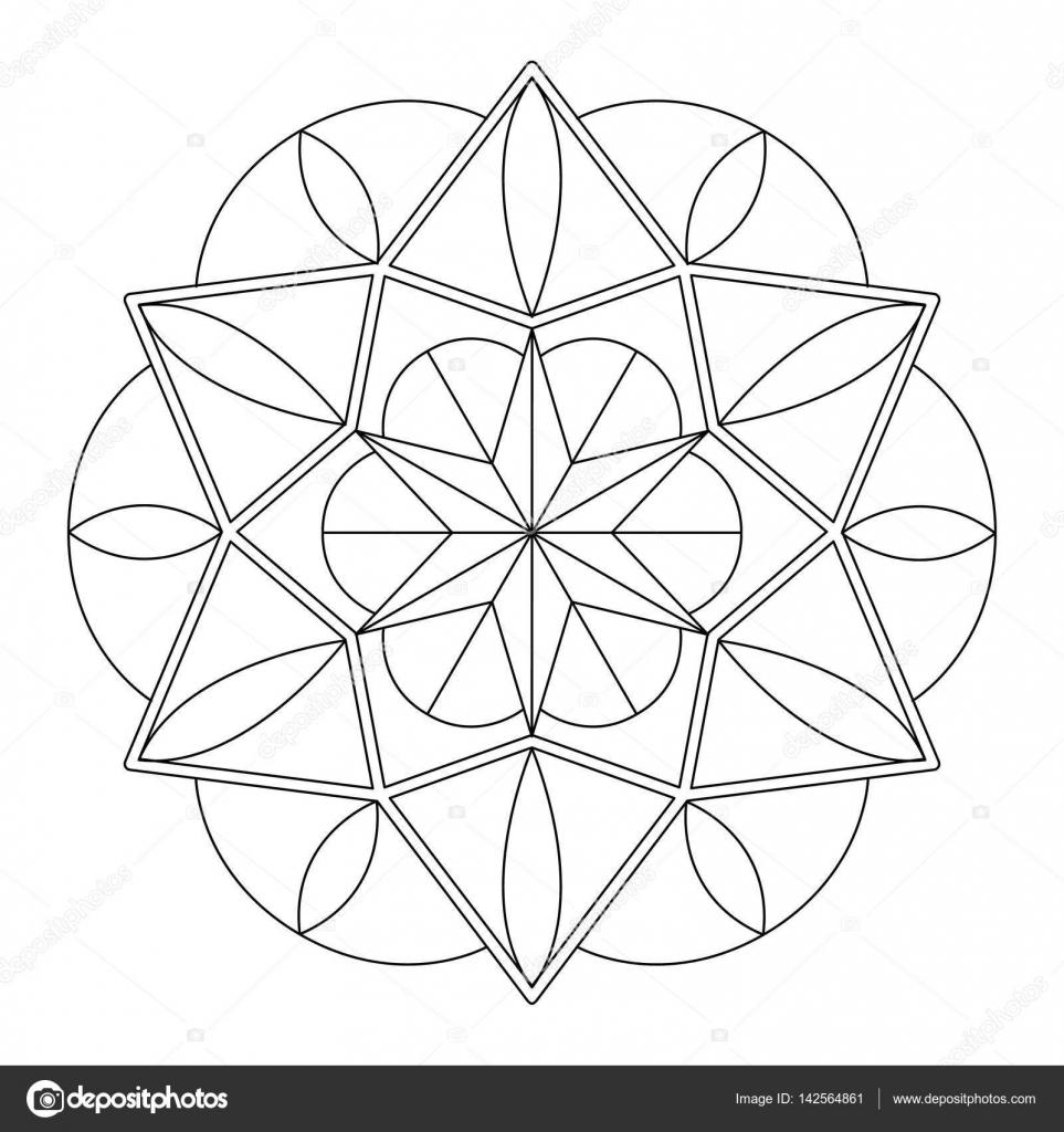 Fein Geometrische Kreis Malvorlagen Galerie - Beispiel Business ...