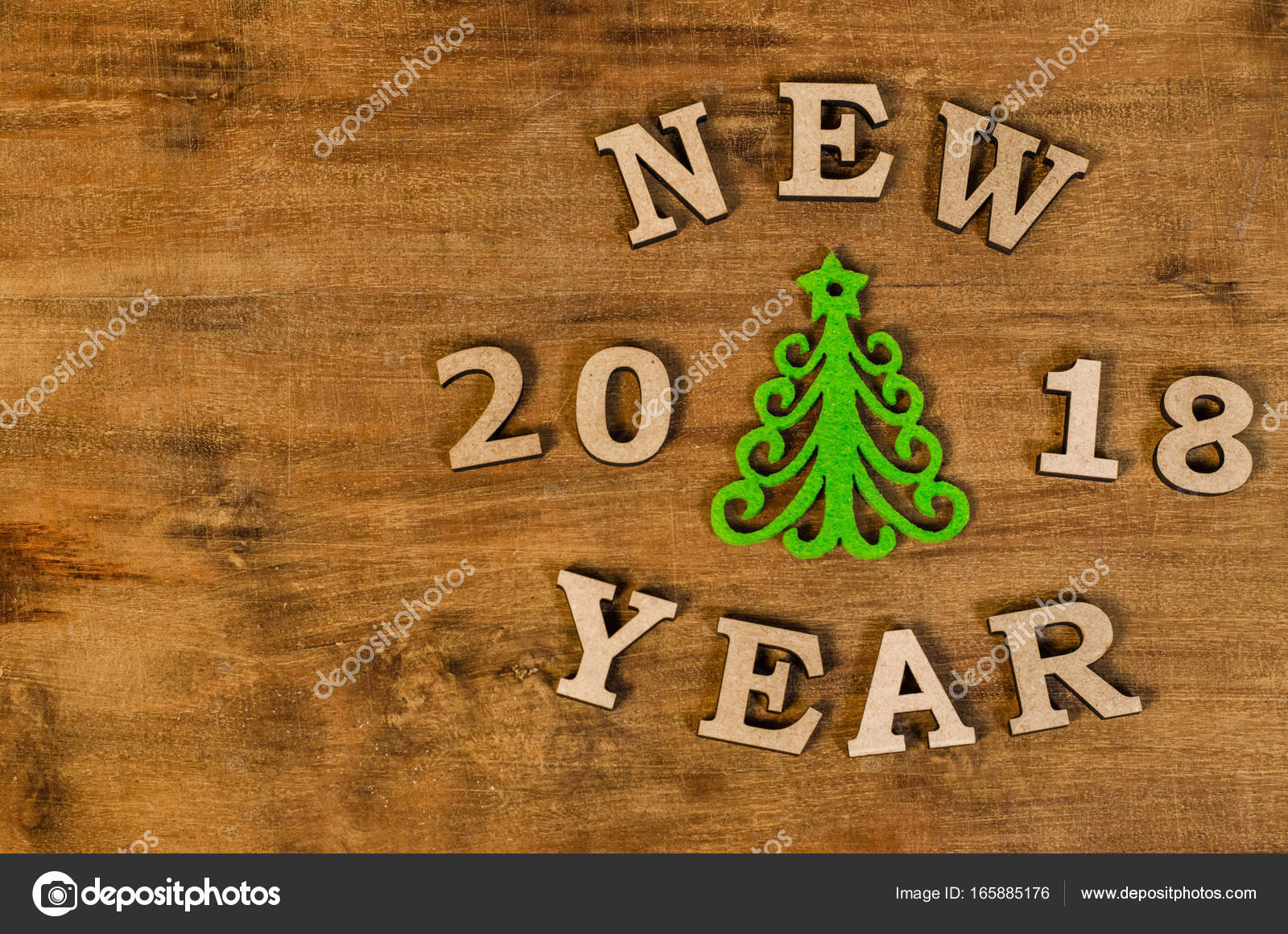 happy new year 2018 background stock photo