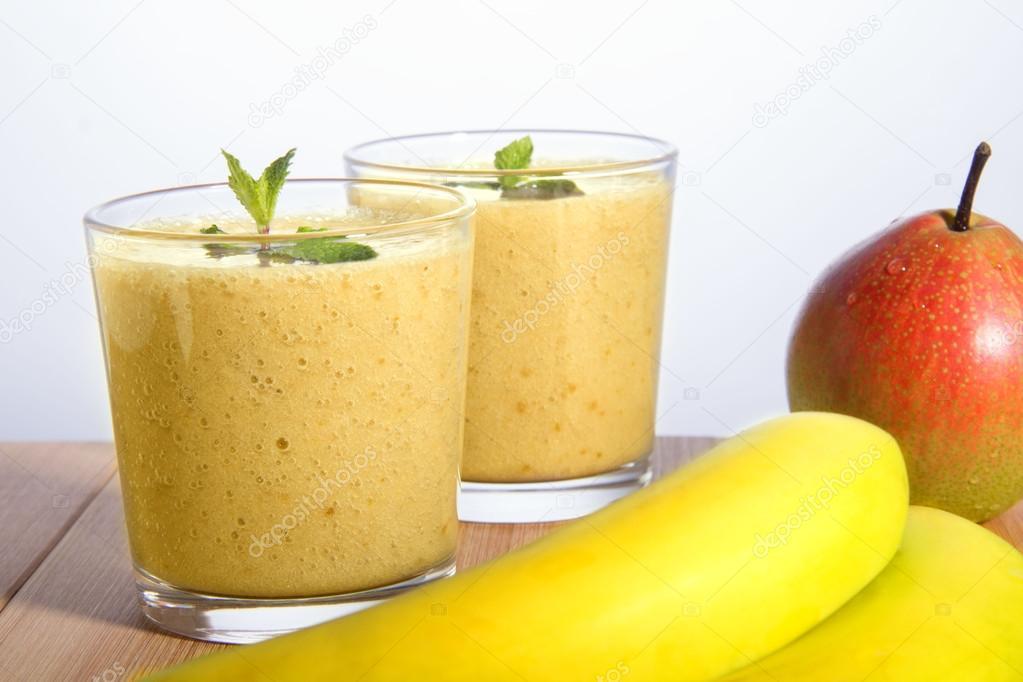 smoothie päron banan