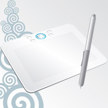graphic tablet a stylus pen