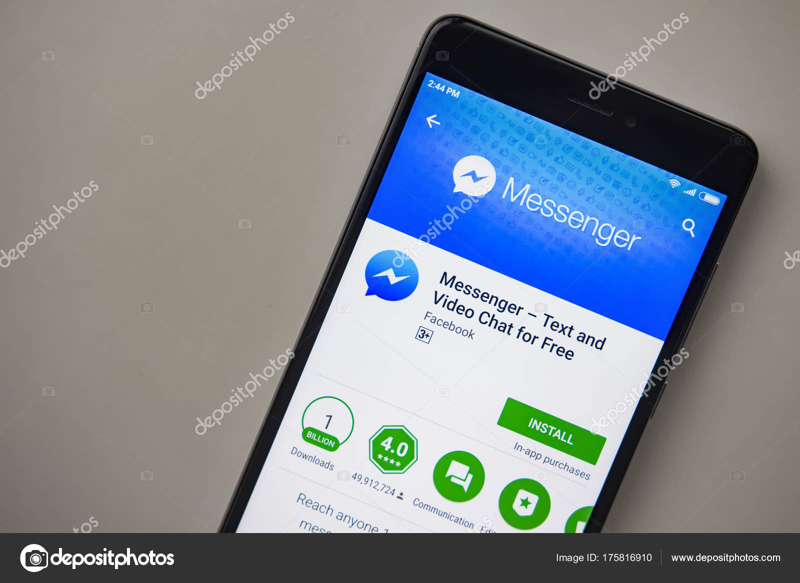 Step 2: In the search box, type the app name and hit enter. For example,  here we going to install Facebook Messenger