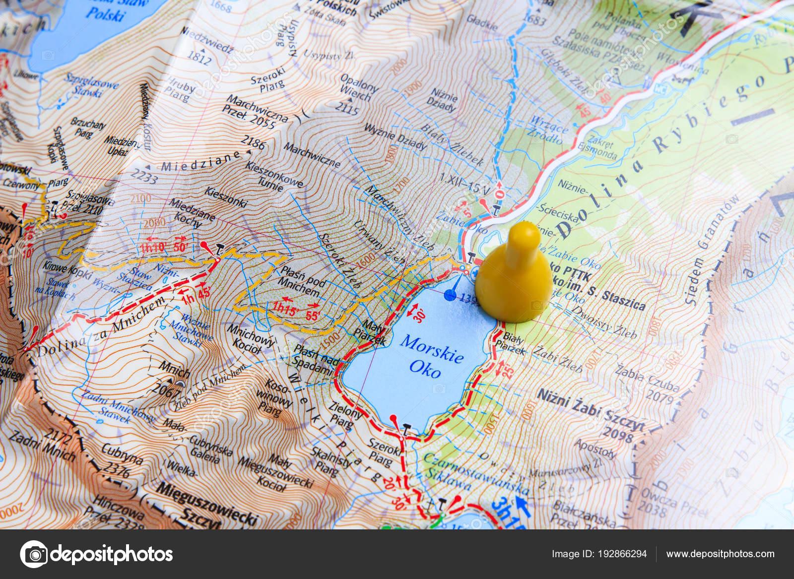 Map Of Zakopane Close Up Walking Route Through The Mountains