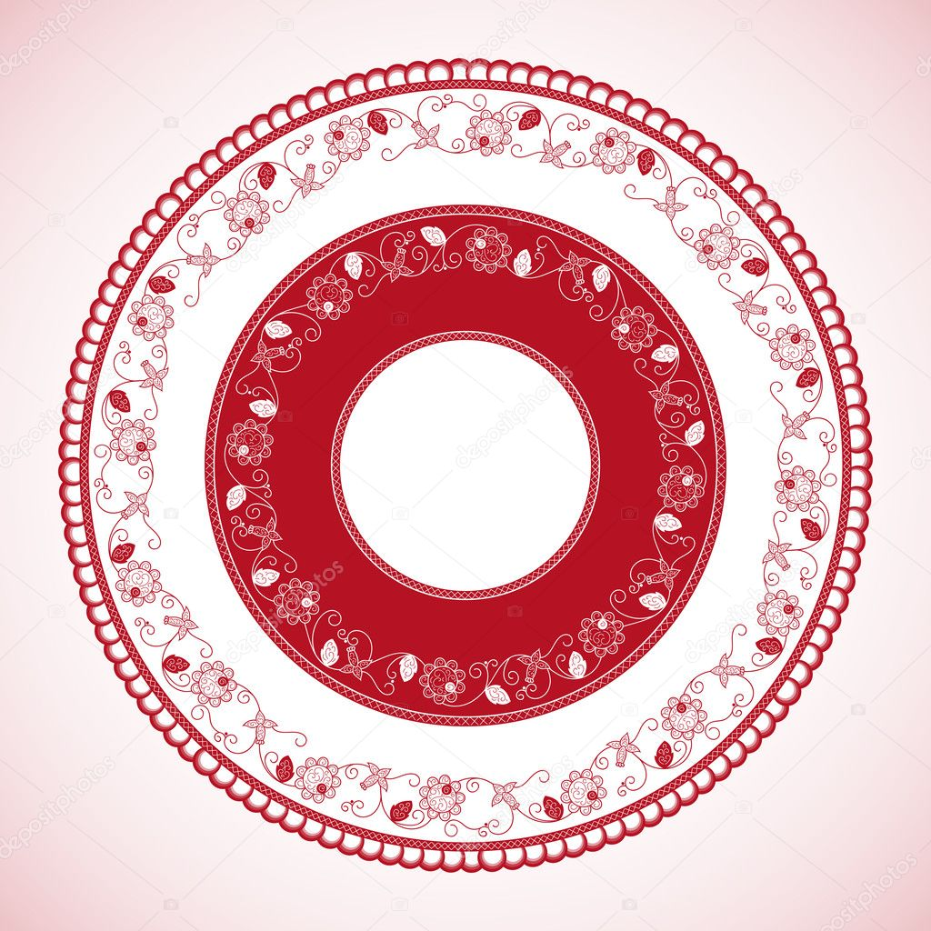 White red color wheel pattern vector. Panama traditional circle with ...