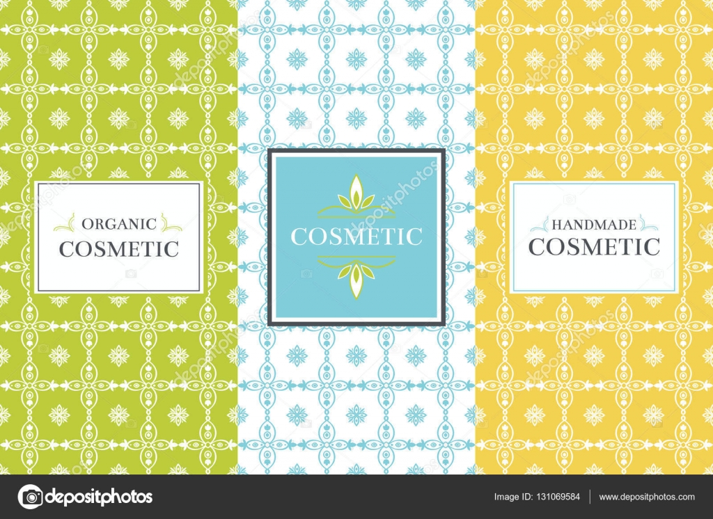 Vector packaging design elements for cosmetics - template label and ...