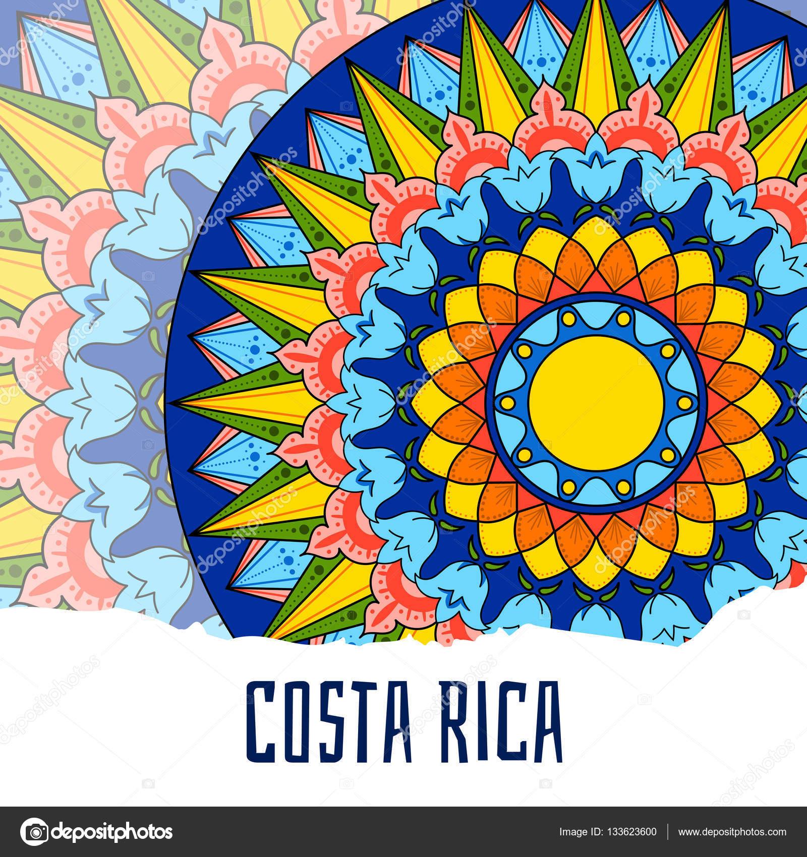 Costa rica illustration vector decorated coffee carreta ornament costa rica illustration vector decorated coffee carreta ornament wheel design for tourist symbols card biocorpaavc Gallery