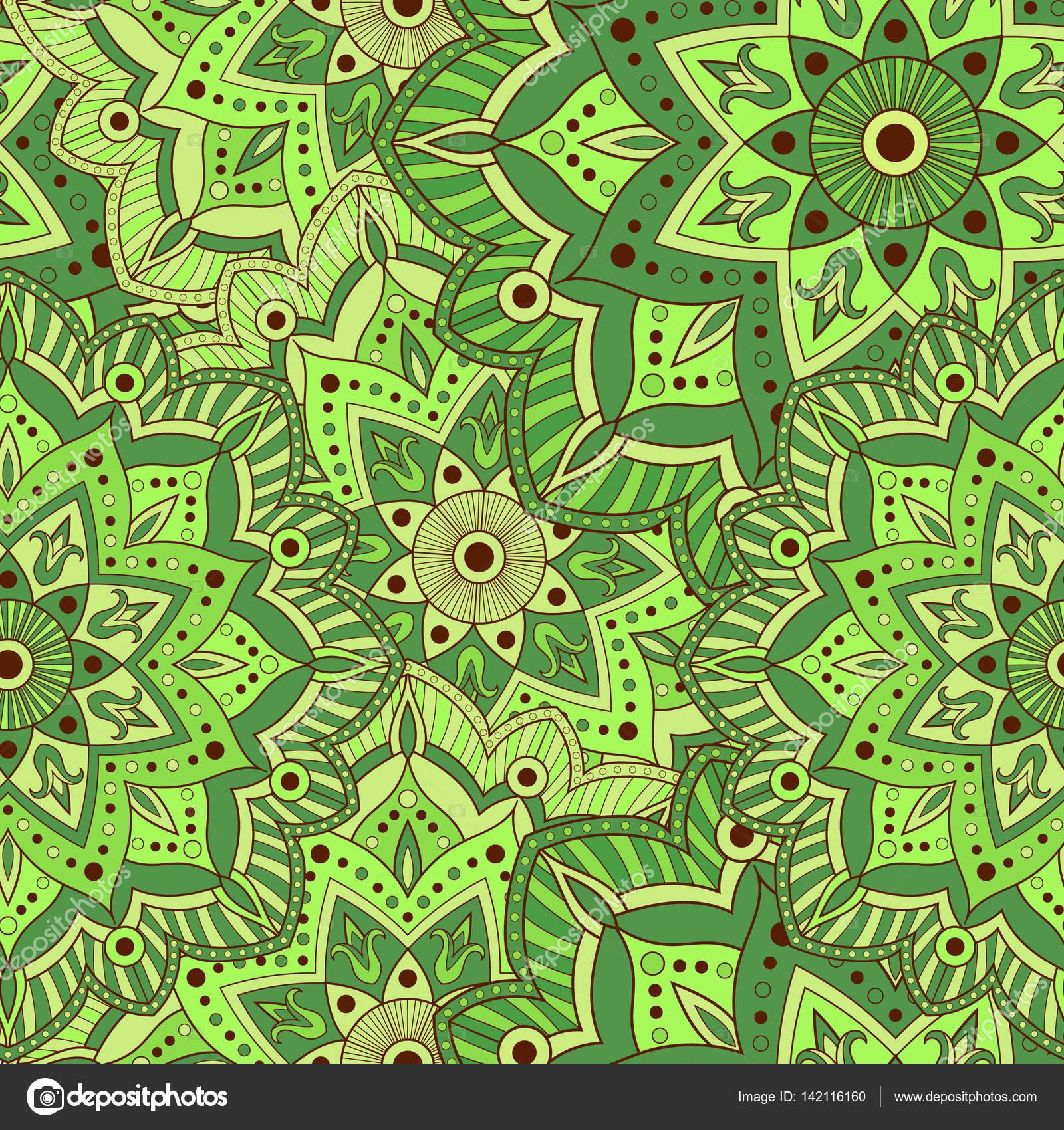 Tapete Orientalisches Muster nahtlose mandala muster für die verpackung papier stoff oder